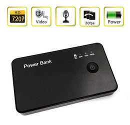 Wholesale Spy camera HD P DVR Hidden Mobile Power bank model Camera Motion Detection Video Recorder Camcorder listening device