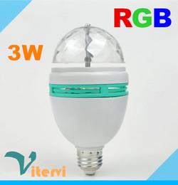 Wholesale Auto Rotating led Stage Light E27 RGB W AC V laser light bulb Colors Change DJ Disco Club Party PUB KTV sing