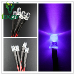 500pcs LED 5mm 12v Pre-Wired Resistor Round Top Purple UV Bright Emitting leds 12V DC 20cm Pre Wired Diodes Led Lamp DIY Wholesal