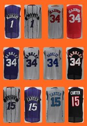 Wholesale Men s Vince Carter Tracy McGrady Hakeem Olajuwon Charles Barkley Popular jersey Top Quality Drop Shipping Accept Mix orders
