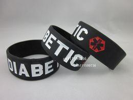 Wholesale 50pcs Diatetes Medical Bracelet Alert Diabetic quot Wide Wristband Bracelet