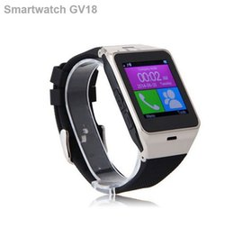Promotion apple iphone montres intelligentes Smart Watch Aplus GV18 Synchronisation d'horloge Notifier Support Sim Card Bluetooth Connectivité Apple iphone Android Phone Smartwatch Montre