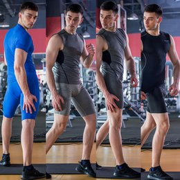 Athletic Tights Men's Sports GYM Compression Wear Under Base Layer Cycling Shorts