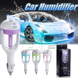 Wholesale 12V Car Steam Humidifier Air Purifier Aroma Diffuser Essential Oil Diffuser Aromatherapy Mist Maker Fogger With Retail Package