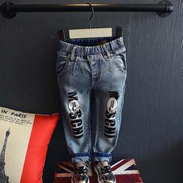 Wholesale Fashion Denim Jeans Child Clothes Baby Clothing Autumn Blue Jeans Boys Girls Long Trousers Children Jeans Kids Pants Lovekiss C27107