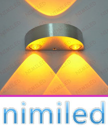 Wholesale nimi969 W Simple Modern LED W Semicircle Aluminum Bedside Lamp Decorative Lamps Background Living Room Wall Lights Aisle Stairs Hotels