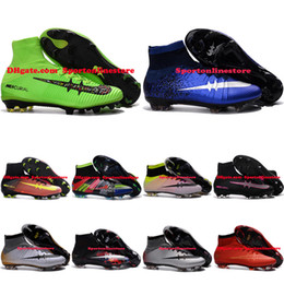 Wholesale Mercurial CR7 Superfly V FG ACC Soccer Boots Superflys Football Boots Soccer Cleats Cheap High Top Football Cleats Cheap New Soccer Shoes