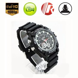 8GB 16GB 32G HD 1080P IR Night Mini DVR Spy Camera Watch Video Camera Hidden Pinhole Cam Camcorder Waterproof Watch DV Audio Video Recorder
