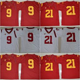 Wholesale 9 JuJu Smith Schuster Adoree Jackson O J Simpson USC Trojans College Football Jerseys New Style Stitched Jersey