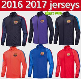 Wholesale Thailand top Quality Men Barcelona Barcelona jacket long sleeved shirt shirts