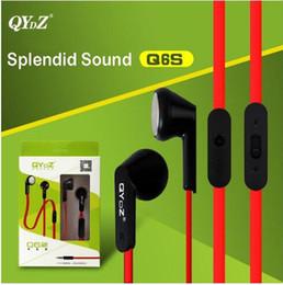 Wholesale New QYDZ authentic Q6S computer phone mp3 magic sound headsets Noodles line headphones Heavy bass headphones