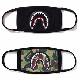 Wholesale 16AW shark HEAD MASK cotton face mask