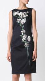 Vintage Floral Flower Print Women Sheath Dress Sleeveless Casual Dresses 082014