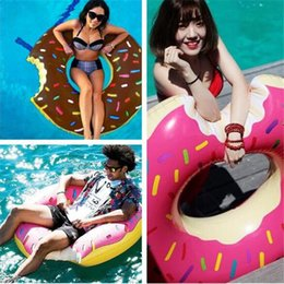 40pcs fashion 120cm Gigantic Donut Swimming Float Inflatable Swimming Ring Adult pool floats 2colors beach and swimming toy D820