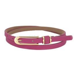 Femmes boucles de ceinture gros à vendre-Mode féminine Fille de sucrerie de couleur en cuir PU gros mince alliage ceinture Skinny Cummerbund Boucle Sangles Baudrier gros H210881