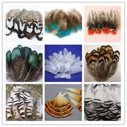 Wholesale 100PCS beautiful pheasant tail & peacock feathers 4-10cm 2-4inches party decorative feather Clothing accessories