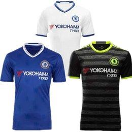 Wholesale Chelsea Jersey Shorts - 2016 The Blues Hazard Fabregas Chelsea Jersey 17 OSCAR DIEGO COSTA Willian Kante Football Soccer Jerseys Shirt Kits Thail Quality Wholesale