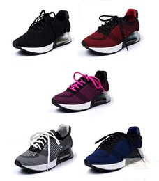 Wholesale Top Quality Ash Lucky Mixed Knits Lace Up Women s Heels Walking Shoes Increased Camfortable Casual Platform Tweed Casual Sport Shoes