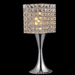 Nuevo elemento caliente de las ventas cristalina contemporánea Lámparas de mesa, diseños del dormitorio hermoso envío libre de iluminación desde mesa moderna habitación lámparas proveedores