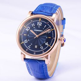 1832 Debert Stainless Steel 43mm Blue Dial Automatic Men's Watch Best Gift For Father And Boyfriend