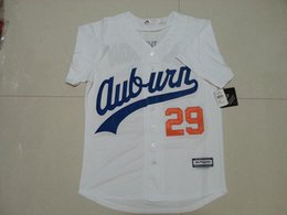 Wholesale 29 Bo Jackson Jerseys Auburn University Baseball Jersey White Throwback VINTAGE Baseball Jersey Size M XL Stitched Best Quality