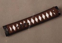 Wholesale Samurai Sword Japanese Sword Wakizashi Handle Brown Ito White Rayskin Tsuka Zj14