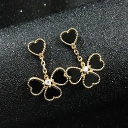 Fashion brand silver 18k rose gold 316L stainless steel women flower stud earrings ear studs jewelry