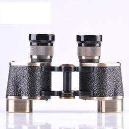 BIJIA Zoom Bronze Binoculars With Rangefinder Reticle 145M 1000M 6x24 MilitaryTelescope 6x Hd Purple FilmWaterproof Spotting Scope