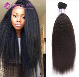 Best Mongolian Kinky Straight Hair With Closure 4x4, Kinky Straight Human Hair Bundles With Closure Coarse Yaki Hair