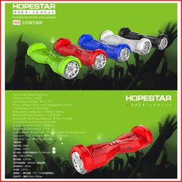 Wholesale H10 Balance Car Scooter Portable Wireless Bluetooth Mini Speaker Twisting Car Balancing Wheel Hoverboard Shape Stereo TF USB Handsfree VS H7