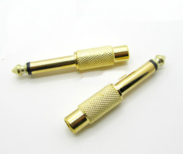 Wholesale 20pcs big two core mm to RCA lotus female to AV mixer amp adapter RCA seat plug connector