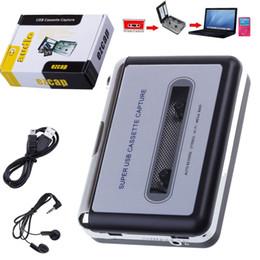 Wholesale Original EZCAP Portable USB Cassette Player Capture Cassette Recorder Converter Digital Audio Music Player MP3