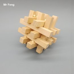 Fun Brain Training Game Wooden Educational Toy Kong Ming Lock Puzzle