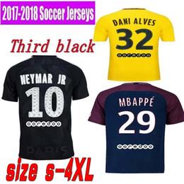1718 NEW NEYMAR JR 2018 new kit soccer jerseys MBAPPE Verratti Cavani Di maria Yellow 1718 Maillot De Foot FOOTBALL man shirt