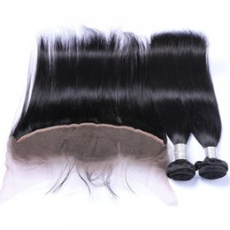 Wholesale The special link for customer best quality unprocessed human hair piece free part frontal inch with straight hair