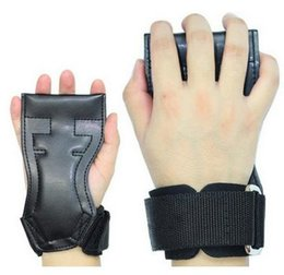 Wholesale-Adjustable Fitness Wrist Support Weight Lifting Gloves Training Gym Grips Straps Support Black Gloves