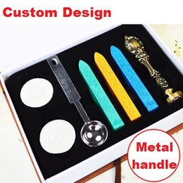 Wholesale Custom Design Metal Handle Wax Stamps Valentine s Day Birthday Gift Ancient Wax Seal Deluxe Suit Retro Wedding Invitations