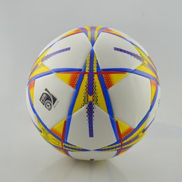 Wholesale 2016 TOP quality SIZE5 PU TPU football soccer gaelic men training match official competition particle pattern glossy ball balls