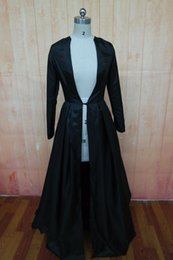 Real Photo Black Bridal Jackets Long Sleeves Sweep Train Women Formal Prom Evening Coats Custom Make Plus Size Bride Bancho