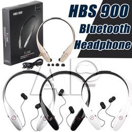 Wholesale HBS Headphones Hbs Wireless Bluetooth HBS Iphone Earphones Bluetooth Headset HBS Sports HBS900 BK Chip LG No logo Not Original
