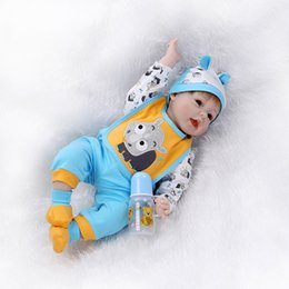 Wholesale 22 quot Soft Silicone Reborn Baby Dolls So Truly Real Baby Alive Dolls Bonecas Doll Kids Toys Christmas Gift