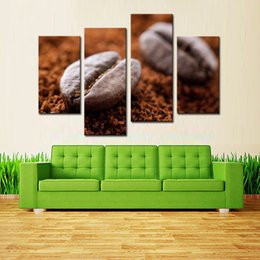 Wholesale LK4184 Panel Coffee Bean Still Life Wall Art Fashion Pictures Print On Canvas Paintings Sale For Home Bar Hub Kitchen Mode