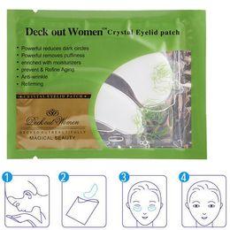 Wholesale 1000Pairs Deck Out Women Crystal Eyelid Patch Crystal Collagen Eye Mask Remove Eye Dark Circles Moisturizing Eye Mask