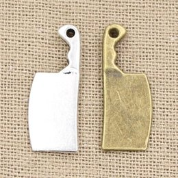 Wholesale Cents Charms kitchen knife mm Antique charms pendant fit Vintage Tibetan Silver Bronze DIY bracelet necklace