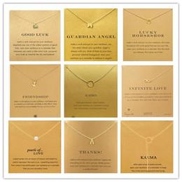 Anges ailes en Ligne-Avec une carte! Très mignon! Collier à colliers avec pendentif différent, éléphant / wishbone / karma / angel wing, livraison gratuite et haute qualité.