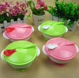 Wholesale Mothers And Kids supplies Baby Bowls With Suckers That Made of Food Grade PP Material Factory Outlet