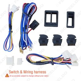 Wholesale New product of Universal Car Power Window switches with Holder Wire Harness long life time
