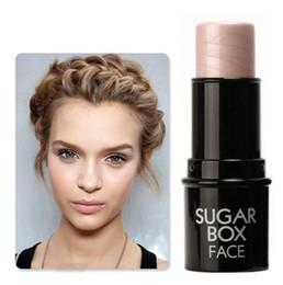Bronzer Sugar Box Face Highlighter Stick Silver Light Contour Moisture Shimmer Highlighting Powder Face Primer Concealer Cream Stick