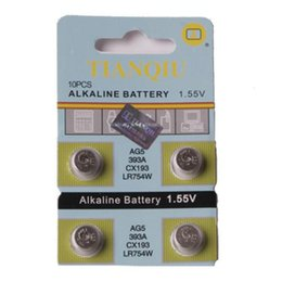Wholesale Button Cell Coin Batteries Alkaline Alcaline Alcalina A LR754 AG5 Watch Battery Calculator Computer Camera Electronic Toys scale Balance
