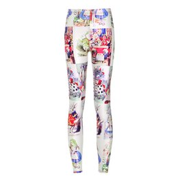 Wholesale New Arrival Sexy Girl Women Queen of Hearts Alice In Wonderland D Prints Running Jogging Elastic GYM Fitness Sport Leggings Yoga Pants